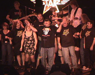 Fans join Starz on stage